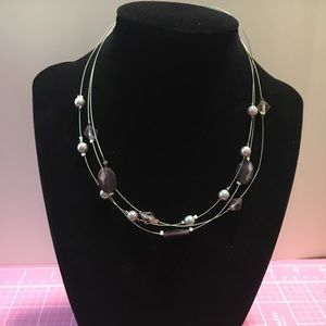 Jewelry - Multi Strand Glass Bead & Pearl Necklace
